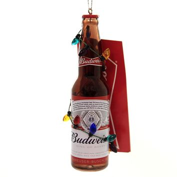 Holiday Ornaments BUDWEISER BOTTLE w/ BULBS Ornament Bud Lights St Louis Ab1192