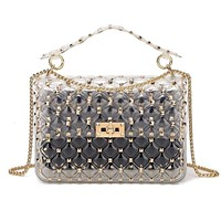 ALINE Women's Riveted Transparent Bag