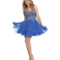 Royal Blue Embellished Beaded Sweetheart Dress 2015 Homecoming Dresses