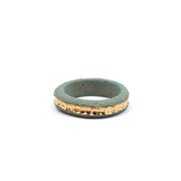 Gold River Speckled Stone Ring