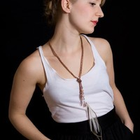 Supermarket: NOEMIAH - Jealous Of Roses - Feather and Chain Necklace from Noémiah
