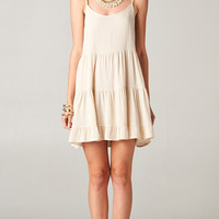 IVORY OPEN BACK BABYDOLL TIERED TUNIC DRESS | PUBLIK | Women's Clothing & Accessories
