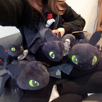 58cm Night Fury Plush Toy How To Train Your Dragon 2 Toothless Dragon Dolls