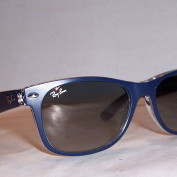 New RAY BAN Sunglasses WAYFARER 2132 605371 BLUE/GRAY 55mm AUTHENTIC