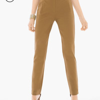 Chico's Petite Juliet Ankle Pants in Brevity Brown