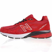 """New Balance in USA M990V 4 Retro Running Shoes """"Red&White"""" 990RD4"""