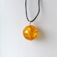Amber Necklace Minimalist Rustic Healing by The Wild Willows