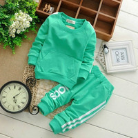 0-2Y Cotton Newborn Baby Boy Clothes Baby Girl Clothing Set Suit Toddler Bodysuits Products For Children Sport 2015 Spring- N5 = 1930177924