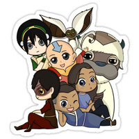 'Chibi Avatar Gaang ' Sticker by vivienegg