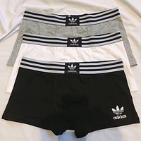 Adidas Men Briefs Shorts Underpants Male Cotton Underwear