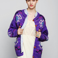Vintage Geo Cardigan - Urban Outfitters