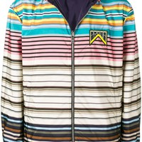 Striped Reversible Jacket by Prada