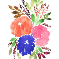 """""""hand painted flowers_1C"""" - Painting Art Print by aticnomar."""
