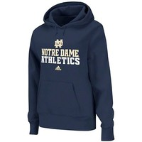 adidas Notre Dame Fighting Irish Women's 2012 Football Practice Hooded Sweatshirt - Navy Blue
