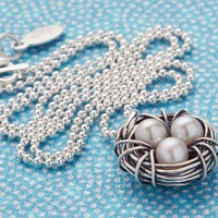 Nest Necklace by The Vintage Pearl