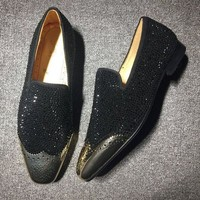 DCCK Cl Christian Louboutin Loafer Style #2329 Sneakers Fashion Shoes