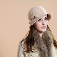 Fashion Winter Bowler Hat in Wool  -  BuyTrends.com