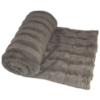 BOON Throw & Blanket Derby Double Sided Faux Fur Throw Blanket