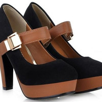 Black High Heel Pumps Shoes
