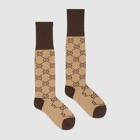 GUCCI Trending GG Letter Print Cotton Blend Socks I