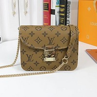Louis Vuitton LV Women Shopping Leather Crossbody Satchel Shoulder