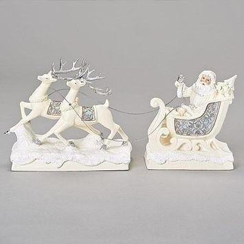 Roman Santa And Reindeer Lasercut Set-132202