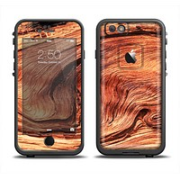 The Wavy Bright Wood Knot Apple iPhone 6 LifeProof Fre Case Skin Set