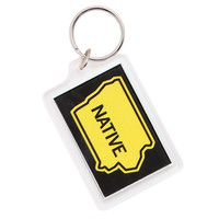 Iowa Native Black Keychain