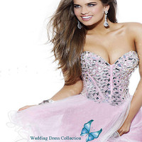 Fashion Short Mini Beaded Party Homecoming Dress Cocktail Prom Wedding Gown