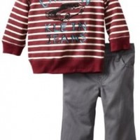 Calvin Klein Baby Boys' Stripes Top With Pant, Multi, 12 Months
