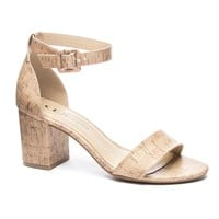 All In Cork Block Heel Sandals