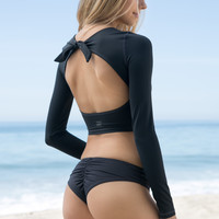 Billabong - Sol Searcher Back Tie Rashguard | Black Sands