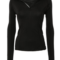 LE3NO Womens Quarter Zip Long Sleeve Active Sports Running Top (CLEARANCE)