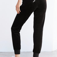 Juicy Couture For UO Gothic Crystal High-Rise Velour Track Pant   Urban Outfitters