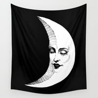 La Lune Wall Tapestry by Corinne Elyse