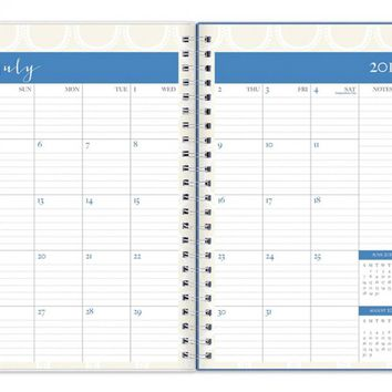 July 2015 - June 2016 Susy Jack Circles Clear Cover Weekly/Monthly Planner 5x8
