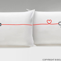 Say I Love You™ Couple Pillowcases,His and Hers Pillowcases,Couple Gifts,Valentine's Day Gifts for Him and for Her