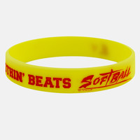 Nothin' Beats Softball Yellow Red Wristband