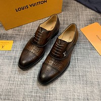 lv louis vuitton men fashion boots fashionable casual leather breathable sneakers running shoes 541