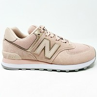 New Balance 574 Oyster Pink WL574MEC Womens Casual Lifestyle Sneakers