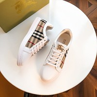 BURBERRY*  Men Fashion Boots fashionable Casual leather Breathable Sneakers Running Shoes0425ff
