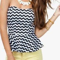Black, Sleek Charmer Tube Top