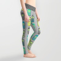 Vintage Cellphone Pattern Leggings by Chobopop