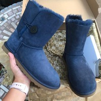 UGG authentic Bailey button navy boots