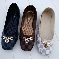 LV Louis Vuitton classic plaid flip-flops ladies temperament sandals