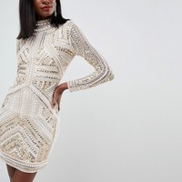 ASOS EDITION Armour Embellished Bodycon Dress at asos.com