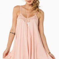 LACE WHISPER DRESS IN DUSTY ROSE