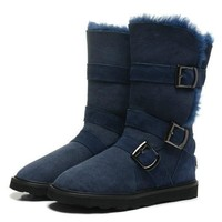 Tagre™ UGG Women Fur Leather Boots In Tube Boots Shoes