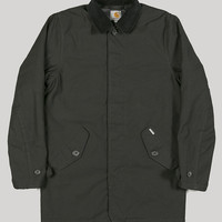 Carhartt Harris Quilted Trenchcoat Black