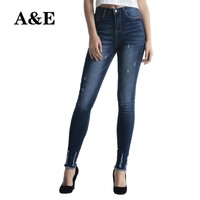 Alice & Elmer Stretch Skinny Jeans woman  Jeans with high waist Female Pants  Distressed Jeans for women for girls